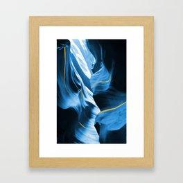 Gold Blue Antelope Canyon Framed Art Print