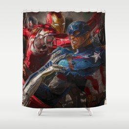War of superhero Shower Curtain