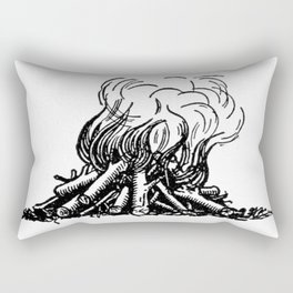 Campfire. Rectangular Pillow