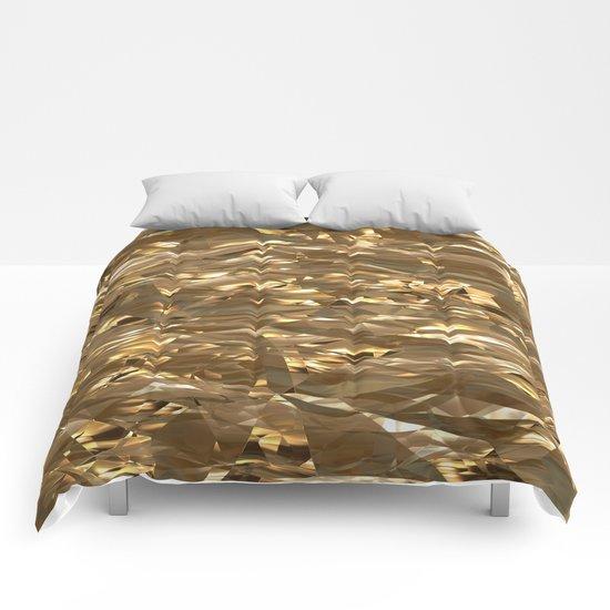 Golden Crinkle Comforters