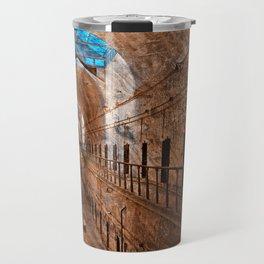 Prison Corridor - Sepia Blues Travel Mug
