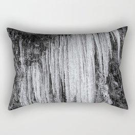 Icicles, No. 5 bw Rectangular Pillow