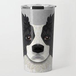 Black Border Collie Travel Mug