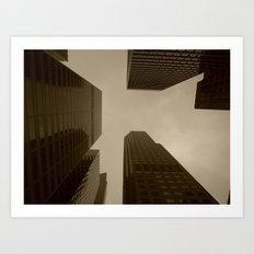 San Francisco Skyscrapers Art Print