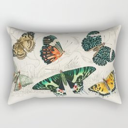 Vintage Butterflies | Various Butterflies | Vintage Butterfly Illustration | Rectangular Pillow