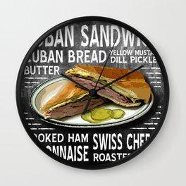Cuban Sandwich Wall Clock