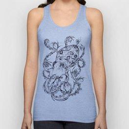 Calligraphy Octopus Unisex Tank Top