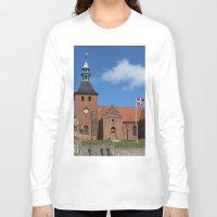 denmark Long Sleeve T-shirts featuring Vor Frue Kirke, Svendborg, Denmark by Anders Riise Koch