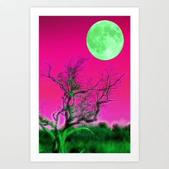 Moonrise park Art Print