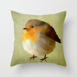Chubby Bird Throw Pillow