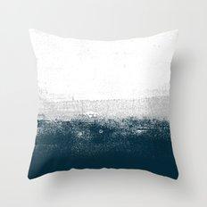 Ocean No. 1 - Minimal ocean sea ombre design  Throw Pillow