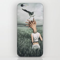 Love and freedom - surreal hands iPhone & iPod Skin