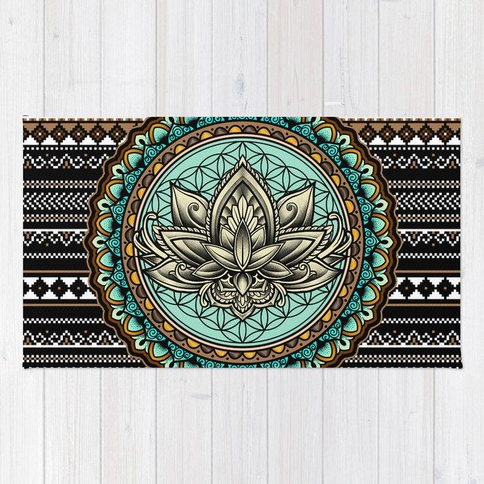 Lotus Mandala Pattern Rug