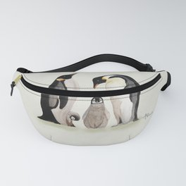 Penguin Family Watercolor Fanny Pack