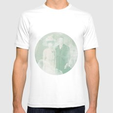 La extraña pareja White MEDIUM Mens Fitted Tee