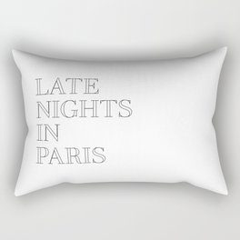 late nights in paris Rectangular Pillow