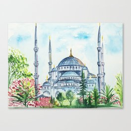 Istanbul watercolor Canvas Print