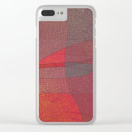 """Pastel Abstract Symmetrical Landscape"" Clear iPhone Case"