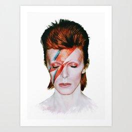 Bowie Tribute Art Print