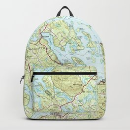Lake Winnipesaukee Map (1986) Backpack