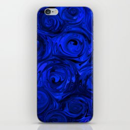China Blue Rose Abstract iPhone Skin