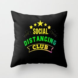 Social Distancing Club  Virus remote Throw Pillow