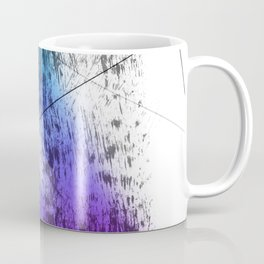Future Grunge Electric Aqua to Dark Violet Abstraction Coffee Mug
