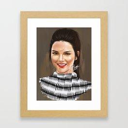 Kendall Jenner (Digital Portrait) Framed Art Print