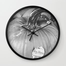 Big Stem Pumpkin Wall Clock