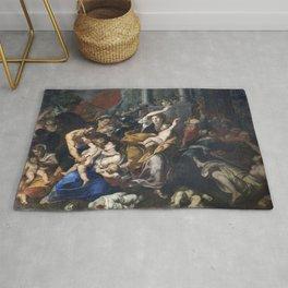 Milan - paint of Massacre of the Innocents from San Eustorgio church Rug