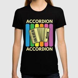 Accordion Melodeon Piano Accordion Retro Gift Idea T-shirt