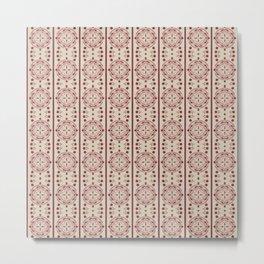 Mediterranean Vintage Pink Tiles Metal Print