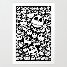 Halloween Jack Skellingtons emoticon face iPhone 4 4s 5 5c 6, pillow case, mugs and tshirt Art Print