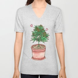 for the love of cannabis Unisex V-Neck
