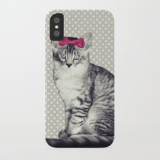 Cat with a Bow iPhone X Slim Case