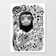 Idées noires Canvas Print