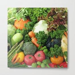 Vegan Vegetarian Vegetta Metal Print