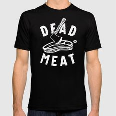 DEAD MEAT Mens Fitted Tee MEDIUM Black