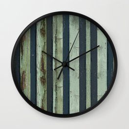 Stripped Green Lines Wall Clock