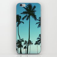 palm trees iPhone & iPod Skins featuring Palm Trees by Whitney Retter