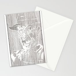 Freddy Krueger by Aaron Bir Stationery Cards