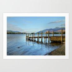 Derwent Water Pier Art Print