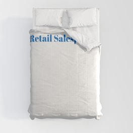 Retail Salesperson Ninja in Action Comforters