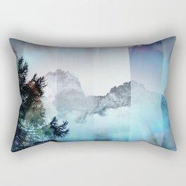 Boreal Lights on the Mountains Rectangular Pillow