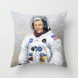 Neil Armstrong Throw Pillow