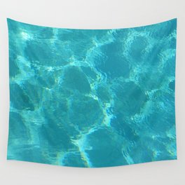 Turquoise Blue Water Wall Tapestry