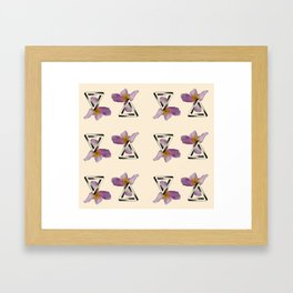 Floral Triangles Framed Art Print