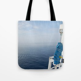 Blue And White Ship's Delight Tote Bag