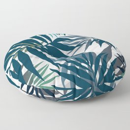Shadow palm tree leaves Floor Pillow