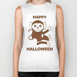 Dead Monkey Happy Halloween Biker Tank